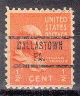 USA Precancel Vorausentwertung Preo, Locals Pennsylvania, Dallastown 734 - Vereinigte Staaten
