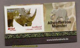 L02) Privatpost - Brief Und Mehr - Allwetterzoo Münster - Nashorn (Rhinocerotidae) - Rhinozerosse