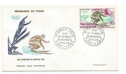 TCHAD 2 FDC J O GRENOBLE 1968 - Winter 1968: Grenoble