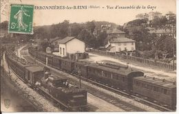 CHARBONNIERES LES BAINS VUE D ENSEMBLE DE LA GARE - Charbonniere Les Bains