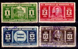 Honduras-0033 - 1935: Y&T N. 247/250 (o) Used - - Honduras