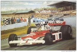 James Hunt  -  McLaren-Ford  -  Race Of Champions  -  Brands Hatch 1976  -  Art Card By Alan Preece - Grand Prix / F1