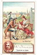 Chromo Chocolat Aiguebelle : La Vaccine, Jenner, Médecin Anglais ( Variole ) - Aiguebelle