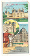 Chromo Chocolat Aiguebelle : L'Art Architectural, Chambord, Le Louvre, Renaissance ( état ) - Aiguebelle