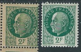 [22] Variété : N° 518  Pétain Papier Carton + Normal  ** - Variétés: 1941-44 Neufs