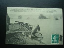 Catastrophe De MONTREUIL-BELLAY Le 13 Novembre  1911 - Train De Voyageur Tombe Dans Le THOUET - Catastrophes