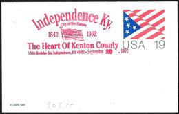 Stati Uniti/United States/États-Unis: Intero, Stationery, Entier, Bandiera, Flag, Drapeau - Buste