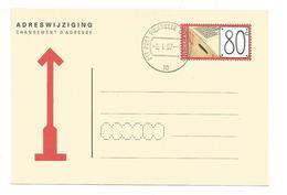 PAYS BAS ENTIER CARTE POUR CHANGEMENT D'ADRESSE 1997 - Postal Stationery