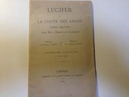 LUCIFER, La Chute Des Anges, Poème Oratorio , 1884 - Vieux Papiers