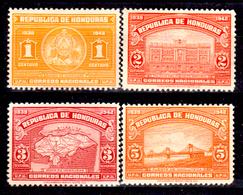 Honduras-0035 - 1939: Y&T N. 255, 256, 257, 258 (+) Hinged - - Honduras