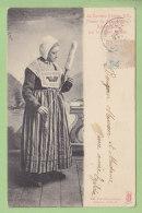 MELLE : Fileuse Du Pays Miellois. 2 Scans. Edition GBN - Melle
