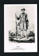 MILITARIA - EISEN - Un Garde Francaise - Ancienne Collection Vualflart - Scans Recto Verso  -Paypal Free - Regimente