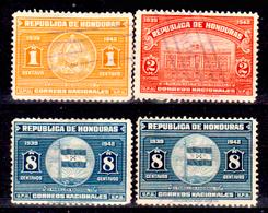 Honduras-0036 - 1939: Valori Della Serie Y&T N. 255-259 (o) Used - - Honduras