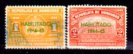 Honduras-0037 - 1945: Y&T N. 261/262 (o) Used - - Honduras