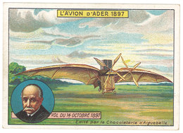 Chromo Chocolat Aiguebelle : L'Avion D'Ader 1897 - Aiguebelle