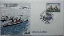 Cinquantenaire Du Paquebot Normandie - 1446 - Cartes-Maximum