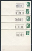France Rep. Française 1972 - 5x Cover / Brief / Lettre - Métrolor, Railway Between Nancy - Metz - Thionville/ Eisenbahn - Treinen