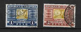 Colombie  Poste Aérienne 1932 Cat Yt N° 113 Et 114 Bon  état - Poste Aérienne