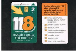 LETTONIA (LATVIA) -        1998 INFOSERVICE 118                  -  USED - RIF. 10588 - Latvia