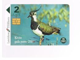 LETTONIA (LATVIA) -        2000 BIRDS: LAPWING       -  USED - RIF. 10599 - Latvia