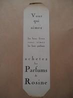 Blad Wijzer  PARFUMS De ROSINE - Marque-Pages