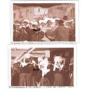 2 Photos Originales BRETAGNE FINISTERE 1929 Quimperlé Foire De Pâques  Folklore Fête - Lieux