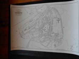 Repro Oude Kadasterkaart P.C. Popp Dendermonde Op Zwaar Papier  71cm Op 102cm - Topographical Maps