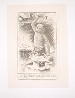 Ex-libris Moderne XXème Illustré -  Allemagne - Forgeron - Robert Langhein - Ex-libris