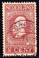 Langebalkstempel  BREDA 11 [LBPK 2158] Op 1913 Jubileumzegels 5 Cent Rood NVPH 92 - Poststempels/ Marcofilie
