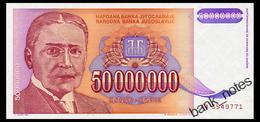 YUGOSLAVIA 50 MIO DINARA 1993 Pick 133 Unc - Yugoslavia