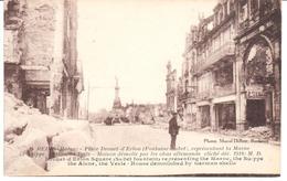 POSTAL  REIMS (MARNE)  -FRANCIA  - PLACE DROUET-D'ERLON (FONTAINE-SUBET) MAISON DÉMOLIE PAR LES OBUS ALLEMANDS  1918 - Reims