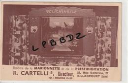 CPA - PUBLICITE - Théâtre De La Marionnette Et De La Prestidigitation R. CARTELLI - 92 - BOULOGNE BILLANCOURT - Spectacle