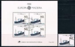Portugal, Madeira, 1988, # 1840, Bl. 95, Used - 1910-... République