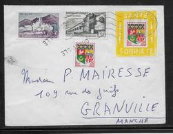 France - Porte-timbre Sur Lettre - Curiosités: 1960-69 Lettres & Documents
