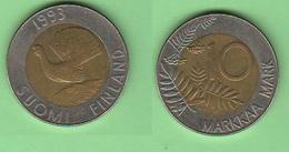 10 Markkaa 1993 Finlandia 10 Marchi Bimetallik Bimetallico - Finlandia