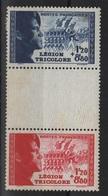 FR57 - FRANCE N° 565/66a Paire Avec Intervalle Légion Tricolore Neufs** 1er Choix - France