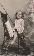 Enfants : Fillette Jouant Du Violon :  Colorisée Et Glaçée - Children