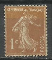 FRANCE , SEMEUSE , 1 Ct , 1932 - 37 , N° Y&T 277 Ba  , Variété Papier Très épais Sans Gomme - Variétés Et Curiosités