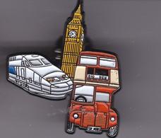 Pin's TGV ET BUS De  LONDRES - TGV