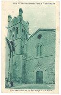 Cpa Villelongue De La Salanque - L'église ( Cachet Militaire Au Verso, Cachet Perlé ) - France