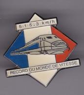 Pin's TGV RECORD DU MONDE DE VITESSE 515,3 Km Heure - TGV