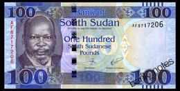 SOUTH SUDAN 100 POUNDS 2017 Pick 15b Unc - Simbabwe