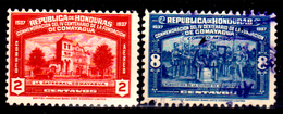 Honduras-0044 - Posta Aerea 1937: Valori Della Serie Y&T N 80-83 (+/o) LH/Used - - Honduras