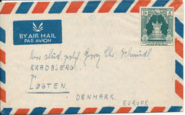 Burma Air Mail Cover Sent To Denmark 1951 - Myanmar (Burma 1948-...)