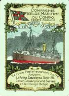 "1 Losse Speelkaart"" Compagnie Belge Maritime Du Congo - Zeer Oude Kaart - Autres"