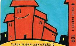 FINLAND 10 MK CASTLE TURUN DRAWING 3000 ONLY !! SAVONLINNAN REGION ONLY USED ED12/97 READ DESCRIPTION !! - Finland