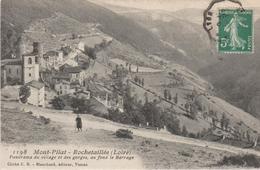 Mont-pilat- Rochetaillée (loire) Panorama Du Village Et Des Gorges, Au Fond Le Barrage - Rochetaillee