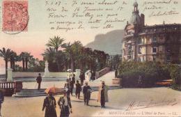SELTENE ALTE  AK   MONTE-CARLO / Monaco   - L´Hotel De Paris - Gelaufen 1907 Mit Stempel BEIRUT / Österr. Post - Monte-Carlo
