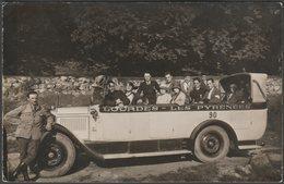 Charabanc, Lourdes Et Les Pyrenees, 1929 - Photo CPA - Passenger Cars