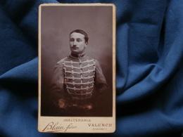 Photo CDV Blain à Valence - Militaire Cavalier Du 1er Hussard L374 - Photographs